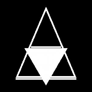 Triangle Panam blanc